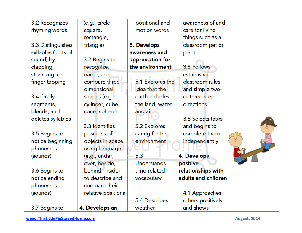 year old preschool lesson plans curriculum for ages 3 4 2