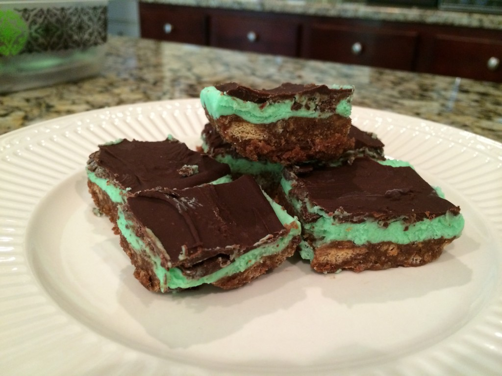 chocolate peppermint slices