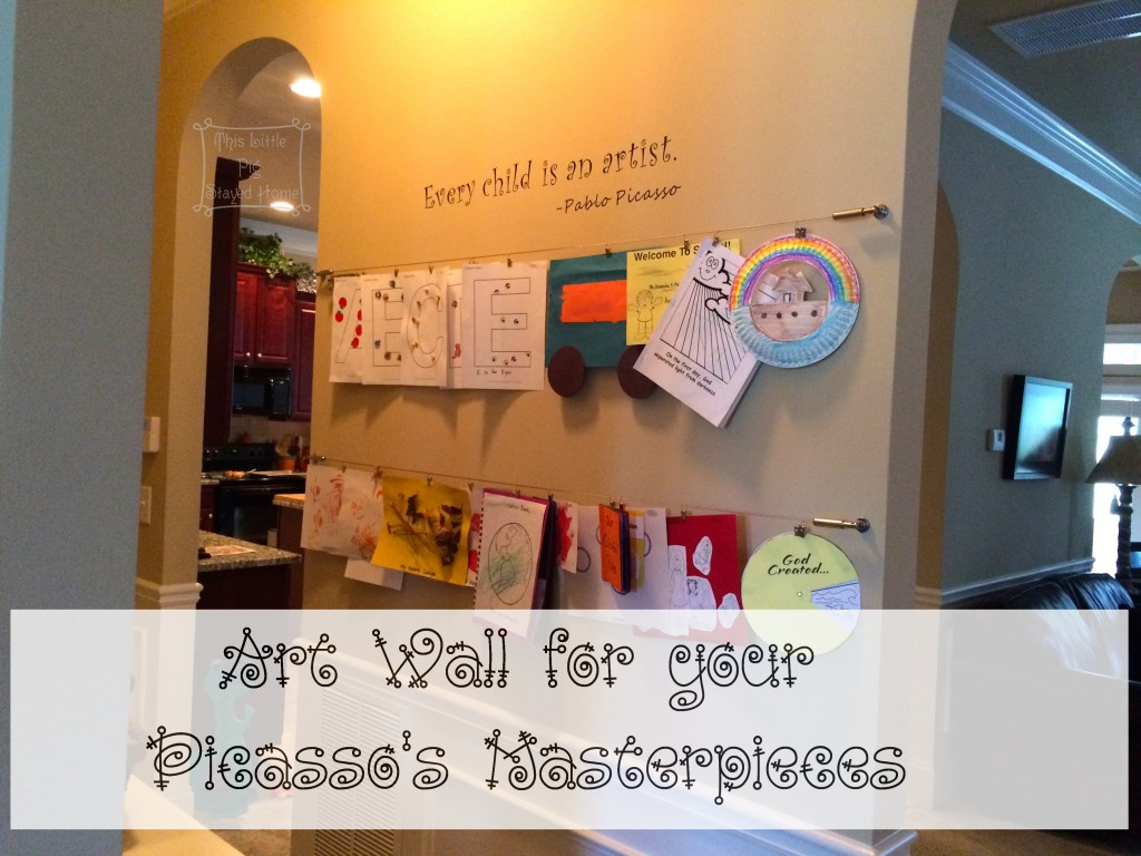 Make an art wall for your Child's Masterpieces and stop cluttering your refrigerator