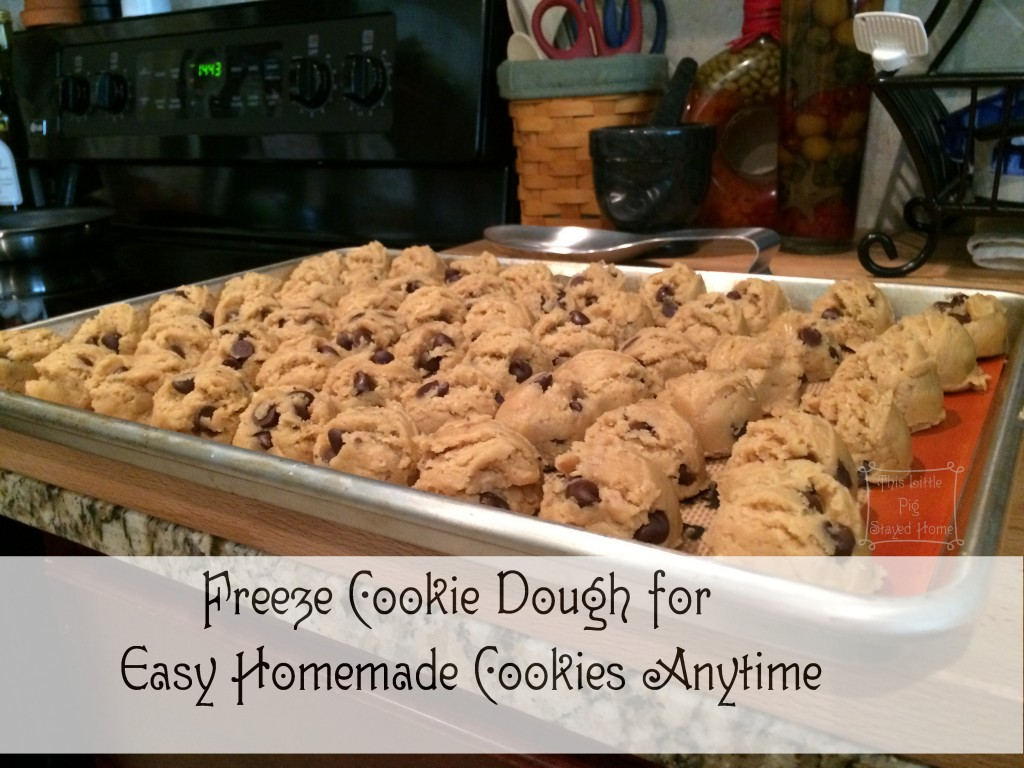 Freeze Cookie Dough for Easy Homemade Chocolate Chip Toffee Cookies anytime.