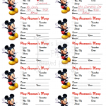 Mickey Mouse Money Notes
