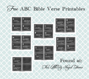 Free ABC Bible Verse Printable for Toddlers Pin