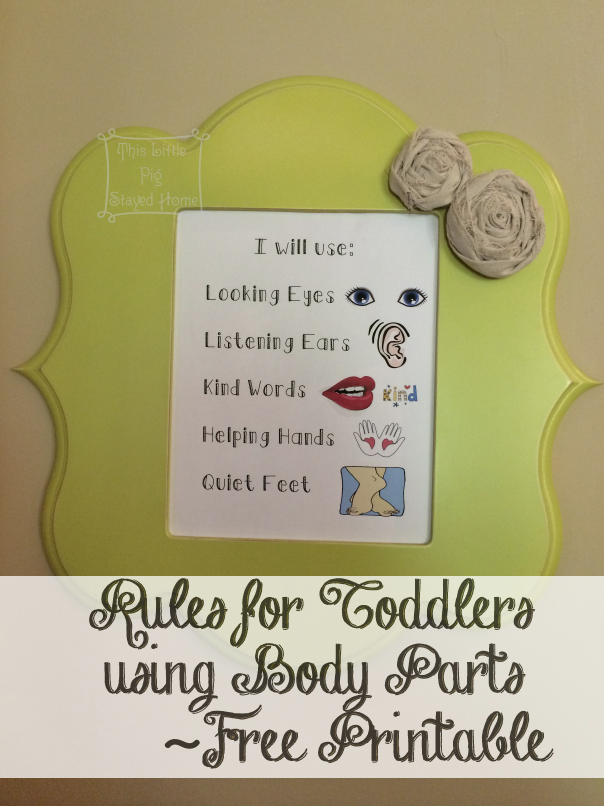 Using body parts to help toddlers remember simple rules