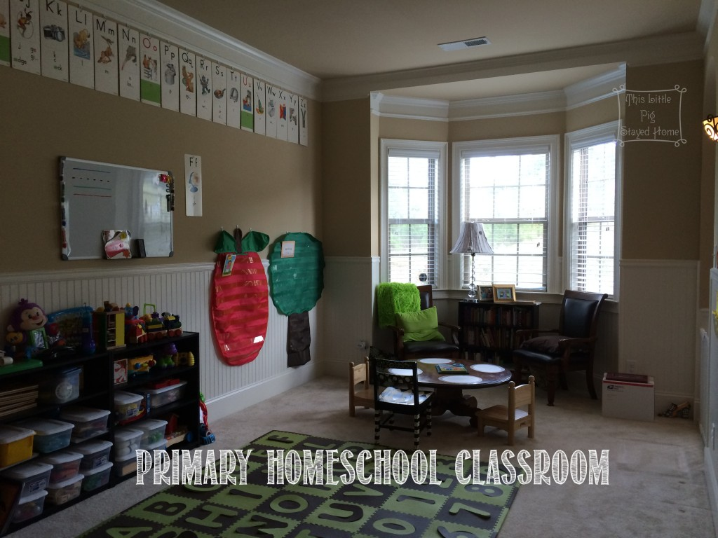 Home school classroom for primary or elementary age students.
