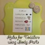 Toddler and Family Rules