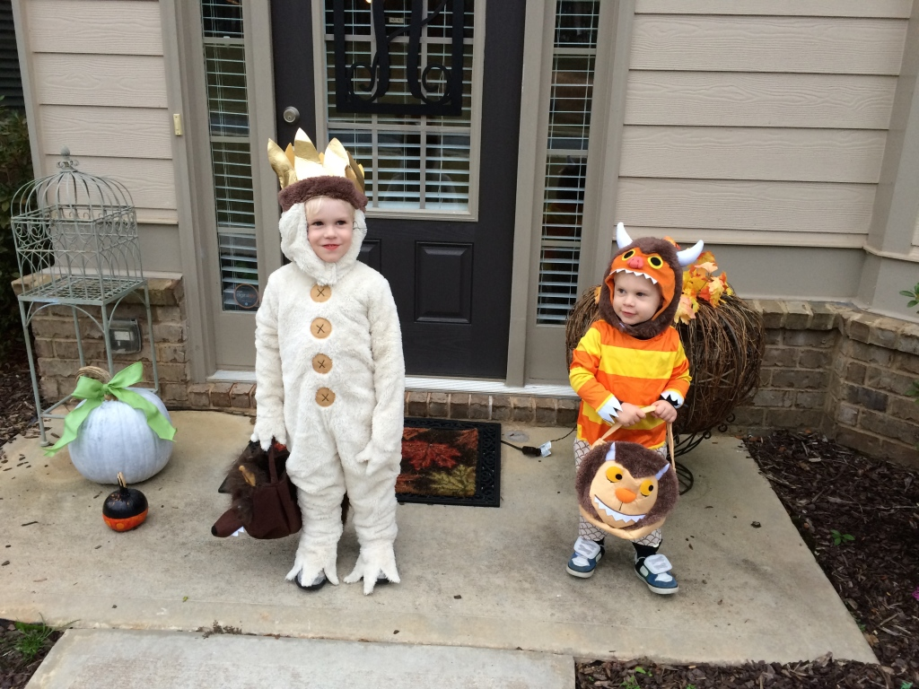 My little Piggy Wild Things ready for Trick-or-Treating