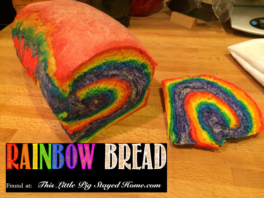 Rainbow Bread found at ThisLittlePigStayedHome.com