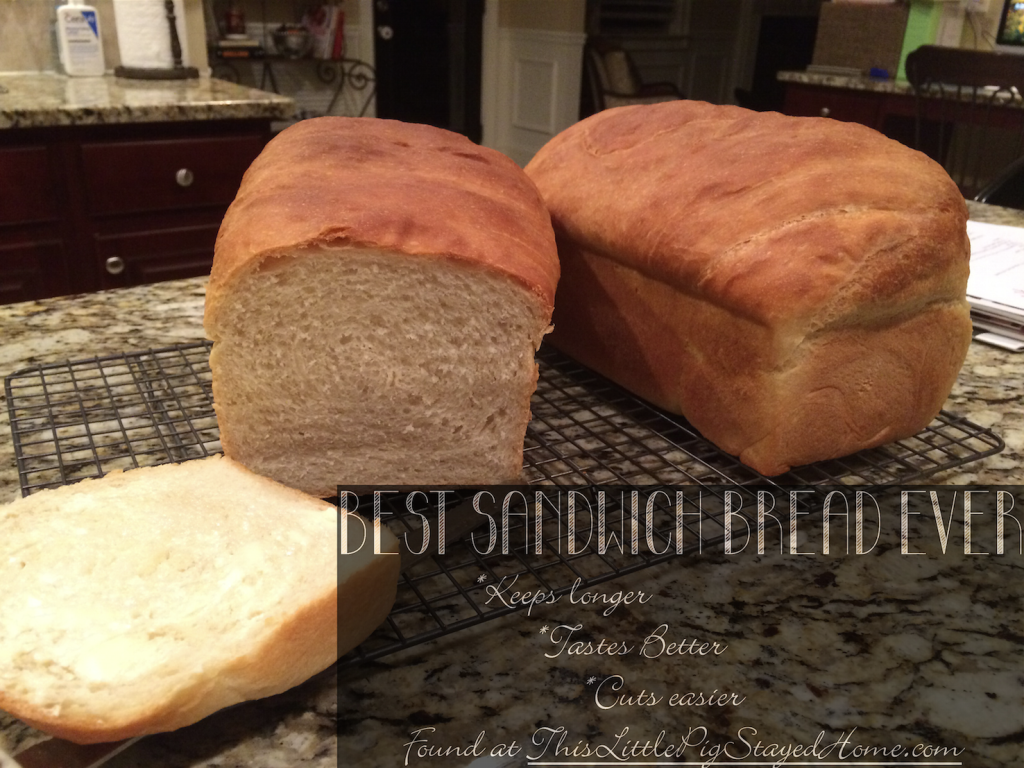The Best Sandwich Bread Ever using just 6 ingredients Found at ThisLittlePigStayedHome.com